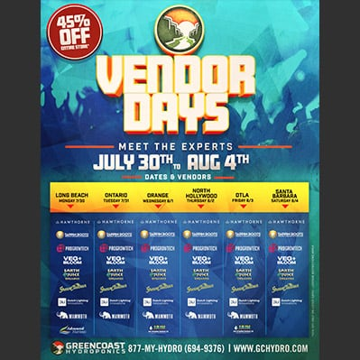 GreenCoast Vendor Days Flyer