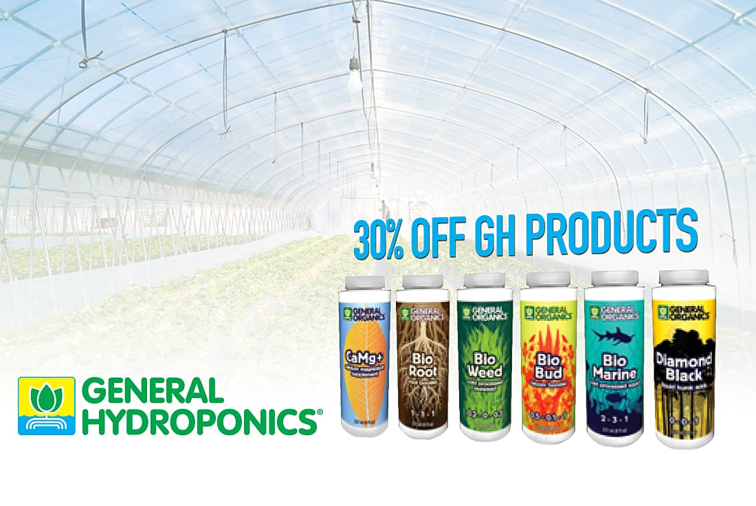 Get 30% off all General Hydroponics products!